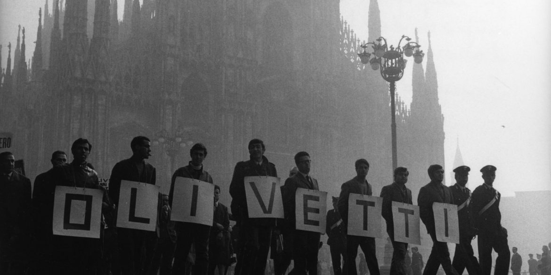 Sciopero dei lavoratori Olivetti © Archivio del lavoro